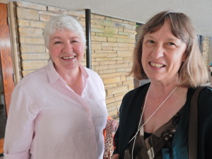 In October, we learned about organic gardening from ___ (left...with Program Chair Kathy Warner)